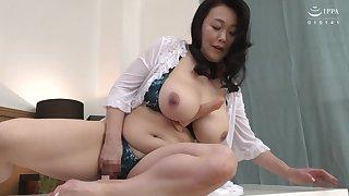 Big Japanese stepmom enjoying some dicks