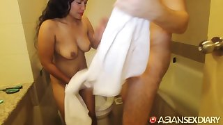 Cheerful outlander hooker loves sex added to she has some heavy tits