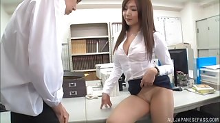 Passionate fucking ends with cum on ass for a cute Japanese girl