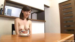 Perfect boobs Japanese girlfriend gives head and gets enfeebled
