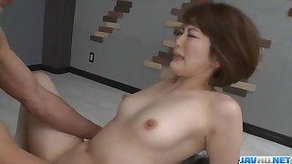 Attractive threesome porn session with nasty Tomoka Sakurai