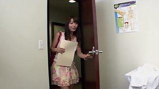 Asian cutie Marica Hase drops her panties be incumbent on balls deep fucking