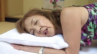 Married muff Asano Taeko moans while animalistic pleasured by her hubby