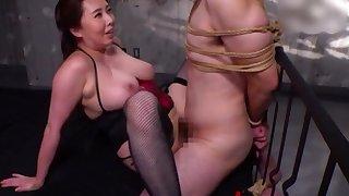 BDSM talisman motion picture with femdom wide of Kazama Yumi let go her economize