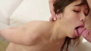 Korean babe gets all her holes used