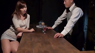 Japanese whore Aihara Miho is fucked, creampied and jizzed overwrought several clients